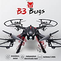 Brushless Motor Quadcopter- MJX Bugs3 RC Drone, Smart Transmitter Alarm Function, High Capacity Battery RTF Drone Support GoPro HERO Cameras and Sports Cameras( without Camera)