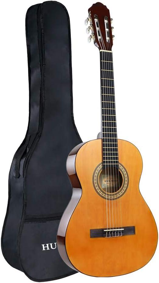 Guitarra Clásica Acústica 3/4 36 Pulgadas,Para Principiantes y Niños, Cuerdas de Nylon, Kit de Funda