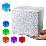 INNOKA 16-inch LED Cube Light, Waterproof & Cordless [Extra Large Glow Cube] Rechargeable, RGB Color Changing Table Chair for Pool Light, Outdoor, Home, Patio, Party, Mood Lamp, Decorate - Granite