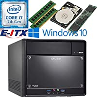 Shuttle SH110R4 Intel Core i7-7700 (Kaby Lake) XPC Cube System , 16GB Dual Channel DDR4, 240GB M.2 SSD, 1TB HDD, DVD RW, WiFi, Bluetooth, Window 10 Pro Installed & Configured by E-ITX