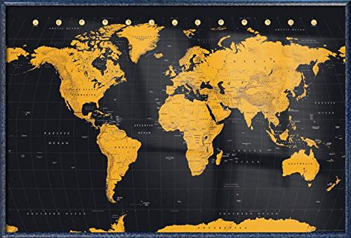 Map Of The World - Framed Poster / Print