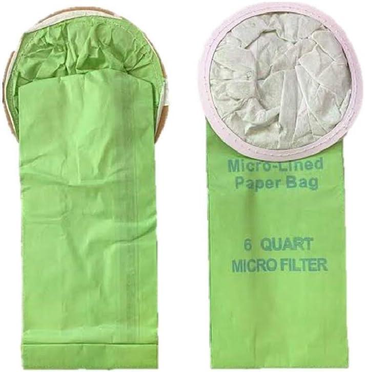 10 Pack Replacment Bags for Proteam 100431 6 QT 6 Quart Backpack Vacuum Cleaners Fits: Super QuarterVac, Quatervac, Tailvac