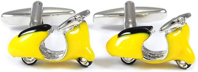 Gemelos para camisa Lambretta-Vespa Amarilla: Amazon.es: Ropa y accesorios