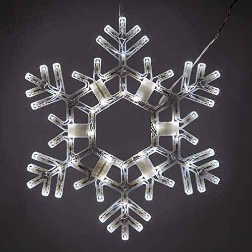 Lighted Snowflake Decorations Outdoor in US - 3