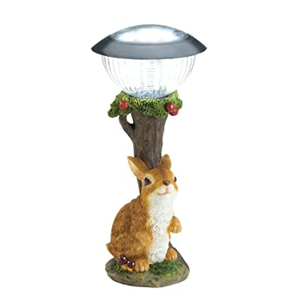 Smart Living Company Bunny Rabbit Solar Garden Path Light Outdoor Decor Small New