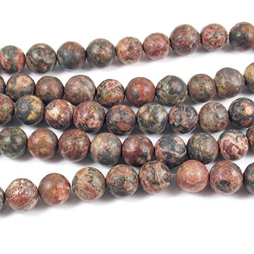 Jasper Skin Gemstone Leopard (Round Gemstone Beads-Leopard Skin Jasper 15