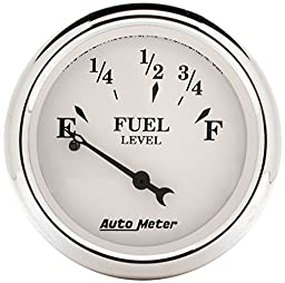 Auto Meter 1607 Old Tyme White Fuel Level Gauge