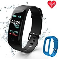 Fitness Tracker,Color Screen Activity Tracker Watch with...