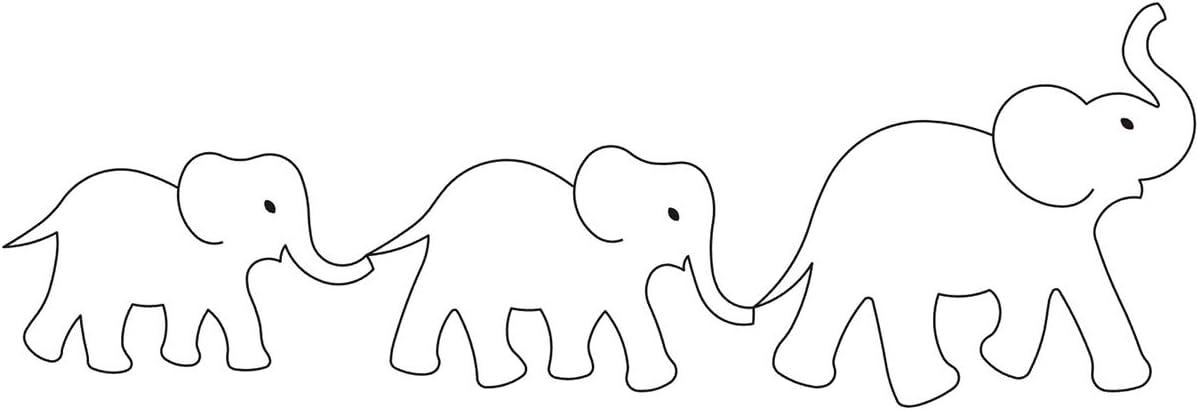 "Brand New Sten Source Quilt Stencils By Laura Estes Elephants 4/"""