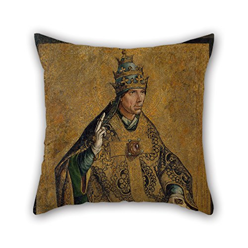 - 20 X 20 Inches / 50 By 50 Cm Oil Painting Pedro Berruguete - Saint Gregory The Pope Throw Pillow Covers,twice Sides Is Fit For Family,teens Girls,gril Friend,wife,study Room