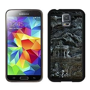 Attractive The Elder Scrolls Skyrim Bas Magician Dragon Fantasy Black&Grace Phone Case for Samsung Galaxy S5 I9500