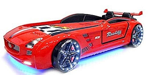 Letto A Forma Di Auto.Letto A Forma Di Auto Roadster Per Bambino 90 X 190 Cm Rosso