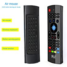 Rii MX3 Wireless Air Mouse Keyboard and Remote Control for Raspberry Pi 2,3, Android TV/Box/Mini PC,IPTV,HTPC,Windows,MAC OS (Non-Backlit)