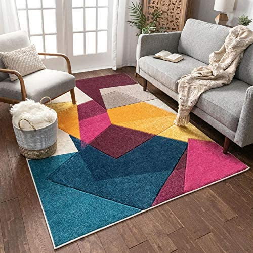 Well Woven Violet Bombay Modern Geo Shapes 7'10″ x 9'10″ Area Rug