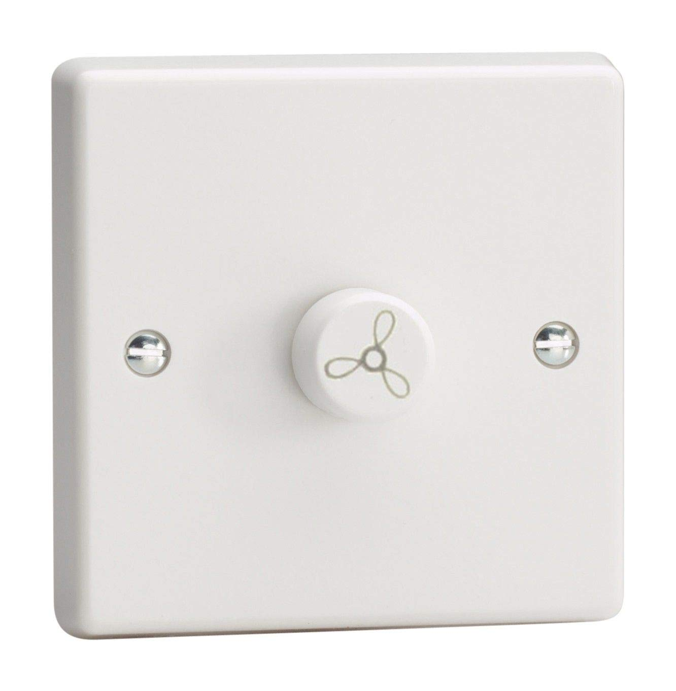 3 Gang 2 Way 250w Dimmer Switch White Push on Push Off