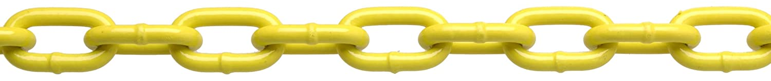 CAMPBELL PD0725027 System 3 Grade 30 Low Carbon Steel Proof Coil Chain on Reel, Yellow Polycoated, 3/16-Inch Trade, 0.21-Inch Diameter, 100-Feet Length, 800-Pound Load Capacity 3/16 Inch Trade 0.21 Inch Diameter 100' Length 800 lbs. Load Capacity