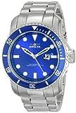 Invicta Men's 15076 Pro Diver Analog Display Japanese Quartz Silver Watch, Watch Central