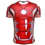 Mxnpolar The Avengers 2 Iron Man Tony Stark Red T-shirt Cosplay Costume XL