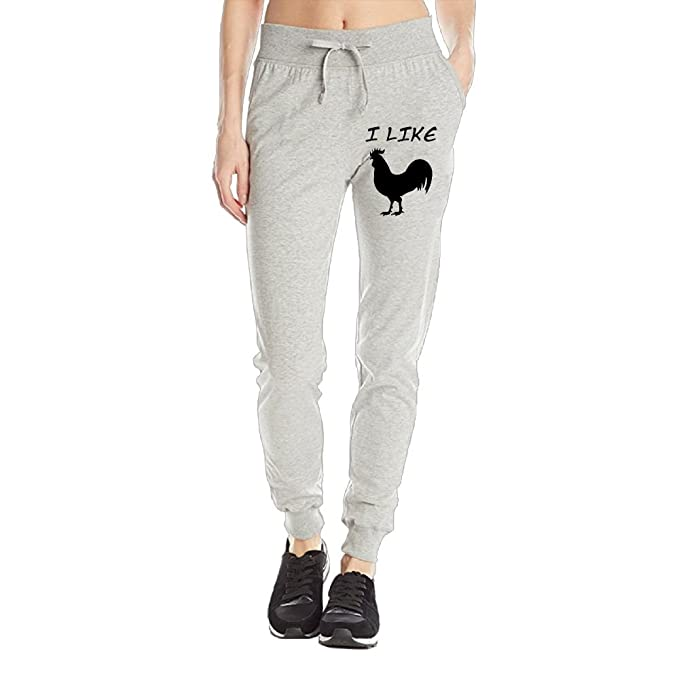 I Like Rooster Silhouette Womens Sweatpants Drawstring Training
