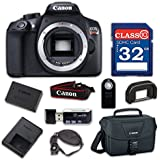 Canon EOS Rebel T6 Digital SLR Camera with Built-in WiFi and NFC (Body Only) with 32GB Class 10 Memory Card, Wireless Remote & 100ES Shoulder Bag