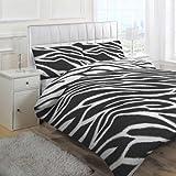 Linens Limited Africa Duvet Cover Set, Black, Double