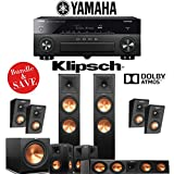 Klipsch RP-280F 5.1.4-Ch Reference Premiere Dolby Atmos Home Theater System with Yamaha AVENTAGE RX-A870BL 7.2-Channel Network AV Receiver