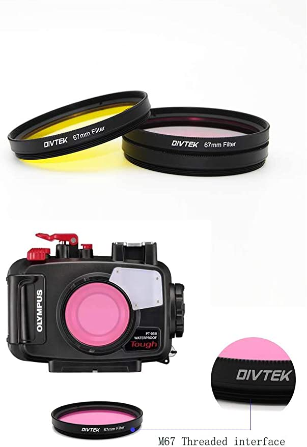 DIVTEK Digital Filter Kit Magenta 67 mm, Zirkular-Polarisator, mehrbest/ändige Nanobeschichtung Magenta