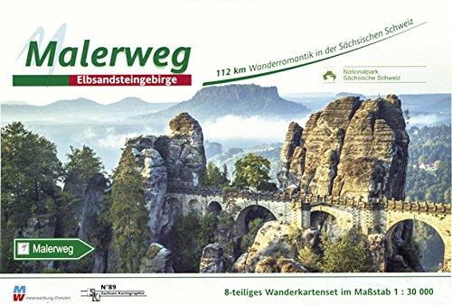Malerweg - Sächsische Schweiz: Wandertourenführer 1:30000 Landkarte – 16. Dezember 2016 SACHSEN KARTOGRAPHIE 386843089X Deutschland Atlas