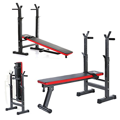 Amazon.com : TOMSHOO Adjustable Olympic Weight Bench Foldable Abdominal AB Lifting Gym Bench : Sports & Outdoors