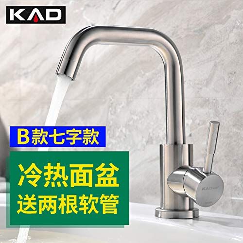 LHbox Basin Mixer Tap Bathroom Sink Faucet Heating and Cooling of hot and Cold Water Basin Toilet Single Hole air wash basins wash basins Stainless 304 B (7 Words)