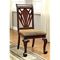 247SHOPATHOME Idf-3185SC Dining-Chairs, Cherry