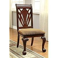 247SHOPATHOME Idf-3185SC Dining-Chairs, Cherry