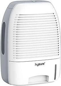 Dehumidifier, hysure 1500ml Portable and Mini Air Dehumidifier Compact Dehumidifier for Small Rooms Bathroom, Bedroom, Wardrobe Room, Closet, Crawl Space, RV …