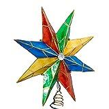 Kurt Adler 14-Inch 8-Point Star with Center Gem Treetop