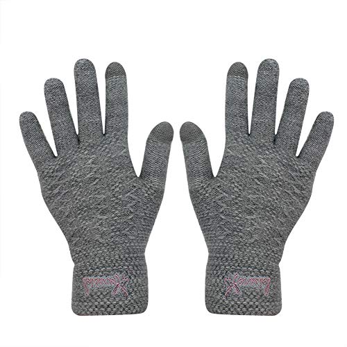 Gloves us Knitted Touch Screen Gloves Warm Winter Thick Mittens Texting Unisex for iPhone Smart phones Laptop Tablet]()
