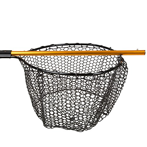 Wakeman fishing retractable rubber landing net with 35 for Rubber fishing nets