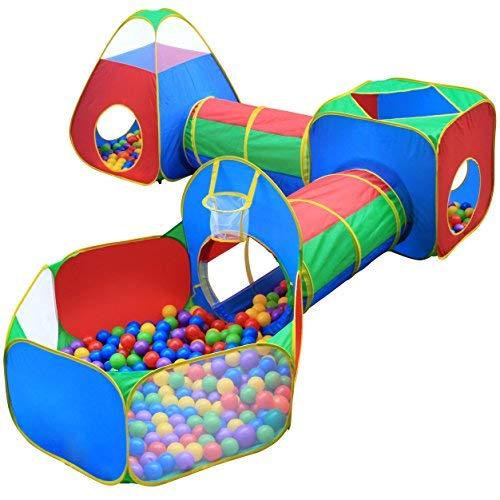 Tiendas de campaña y túneles para niños, juguete de túnel para jugar con la selva, para niños, bebés, niños, con aro...