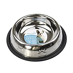 Anti Skid Pet Bowl for Puppy Dog & Cat Food Water Dispenser 700 ml Stainless Steel 16 cm Click on image for further info.