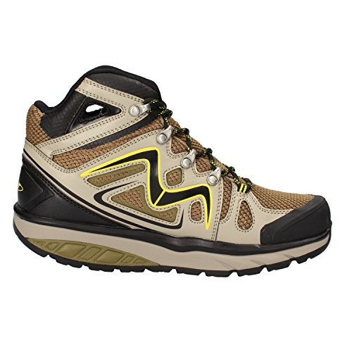 MBT Sneakers Donna 37 EU Nero Verde Tessuto Pelle