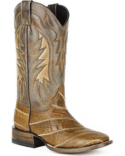 Stetson Hombres Ostrich Leg Western Bota Square Toe - 12-020-8838-4008 Ta Tan