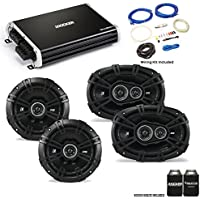 "Kicker 43DSC6504 6.5"" & 43DSC69304 6x9"" DS-Series Speakers with 43DXA2504 DX-Series Amplifier and wire kit"