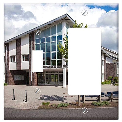 1-Toggle 1-Rocker/GFCI Combination Wall Plate Cover - Town Hall Bedburg-Hau Municipal ()