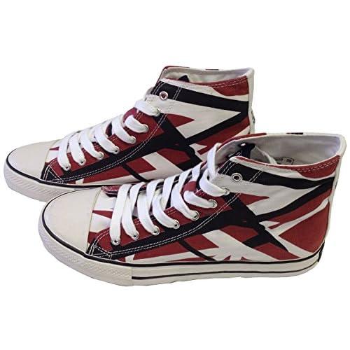 2cc645d60e Authentic EVH EDDIE VAN HALEN Burgandy Red HI Top Shoes Sneakers Size  8.5-13 NEW