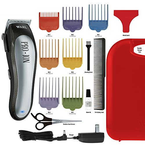 Home Pet Trimmer Kit (Wahl Professional Animal Pro Ion Cordless Pet Clipper Trimmer Grooming Kit #9705)