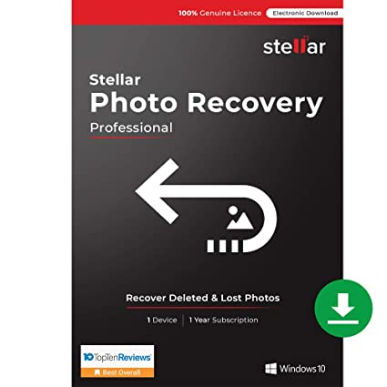 Stellar Photo Recovery Software | for Windows | Professional | Recover &  Repair Deleted or Corrupt Photos, Audios, Videos | 1 Device, 1 Yr