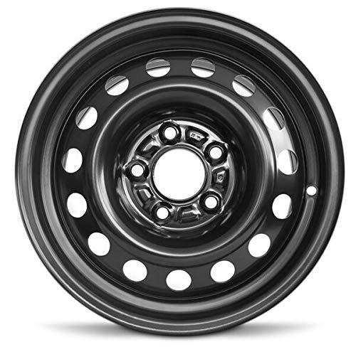 Road Ready Car Wheel For 2011-2016 Hyundai Elantra 2014-2018 Kia Forte 15 Inch 5 Lug Black Steel Rim Fits R15 Tire - Exact OEM Replacement - Full-Size Spare