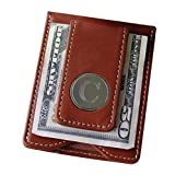07db1be2e827c Engraved Personalized Brown Leather Money Clip   Credit Card Holder Wal  Deal (Small Image)