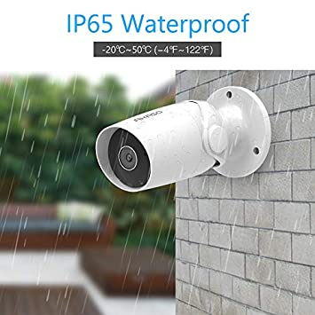 Outdoor Security Camera AKASO Wifi IP Camera,Work with Alexa,Google Home,Fire TV,IP65 Waterproof Home Wireless Surveillance Camera with Two-Way Audio,Remote Access,Motion Detect,Card Cloud Storage B60
