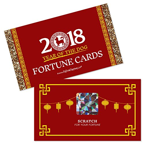 Chinese New Year - 2018 Year of the Dog Scratch Off Fortune Cards