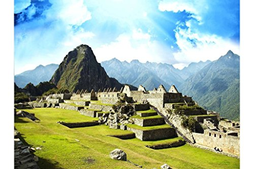 Sim,1000 Pieces Wood Jigsaw Puzzle, Perfect Choice for the Puzzle Lover 29.5 X 19.6 inch Nobleness Present in Box Present-Wrap : Machu Picchu Peru The Lost Inca (Inca Wrap)